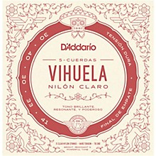 D'Addario Vihuela 5 String Set, Clear Nylon, Hard Tension