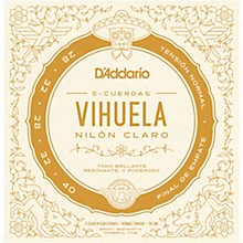 D'Addario Vihuela 5 String Set, Clear Nylon, Normal Tension