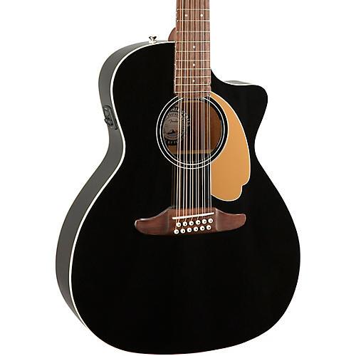 Fender Villager 12-String V3 Acoustic-Electric Guitar Jetty Black