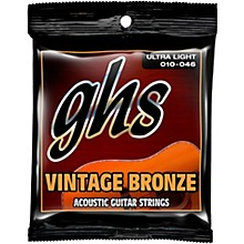 GHS Vintage Bronze 85/15 Acoustic Strings Ultra Light