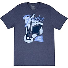 Vintage Geo 1946 T-Shirt Small Blue