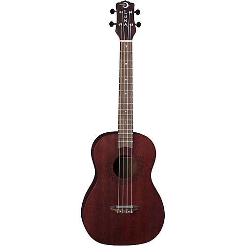 Luna Guitars Vintage Mahogany Baritone Ukulele in Red Satin