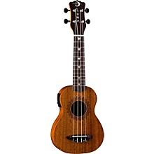 Open BoxLuna Guitars Vintage Mahogany Soprano Acoustic-Electric Ukulele