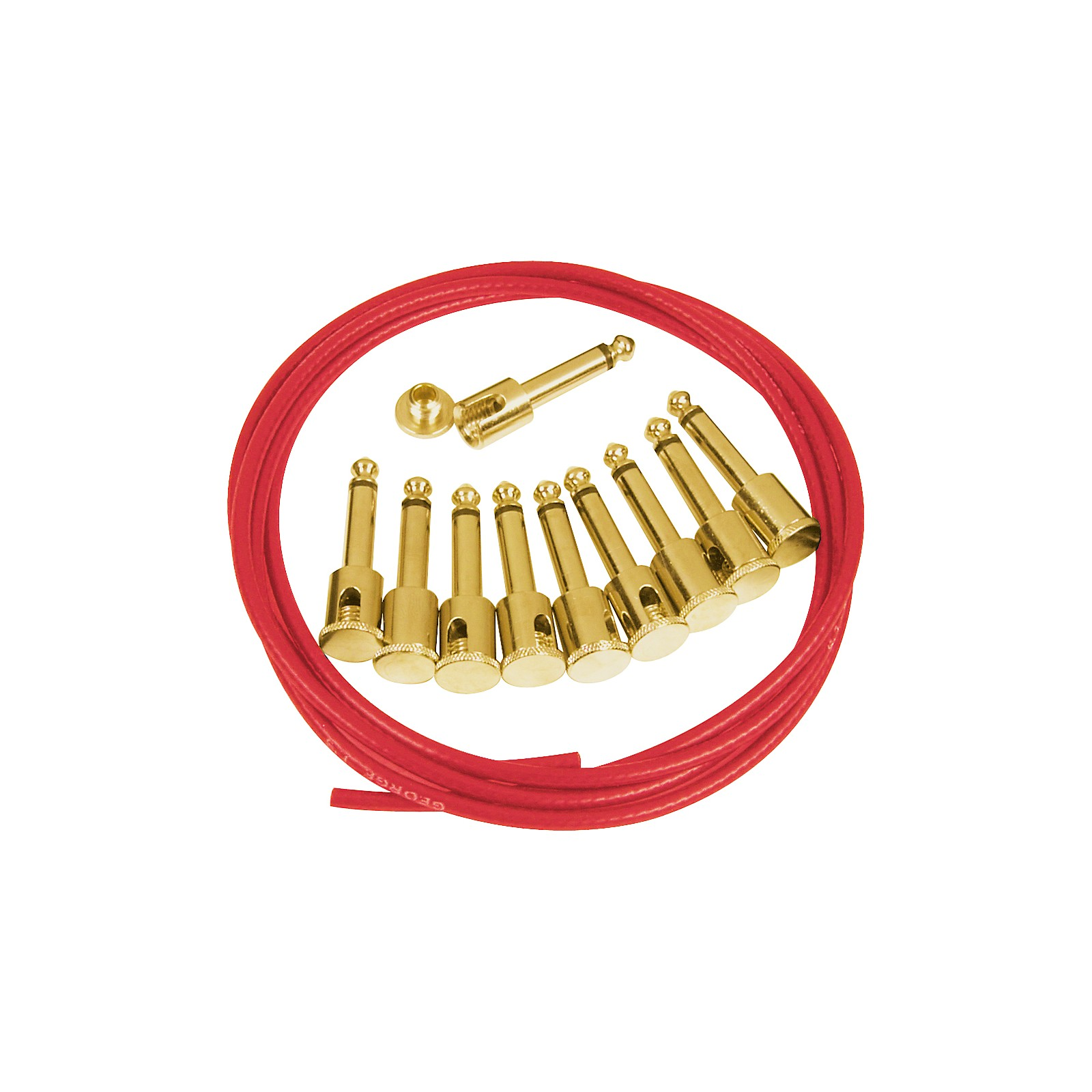George L's Vintage Red Effects Cable Kit