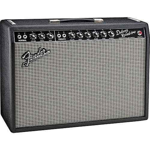 Fender Vintage Reissue '65 Deluxe Reverb Guitar Combo Amp Condition 1 - Mint Black