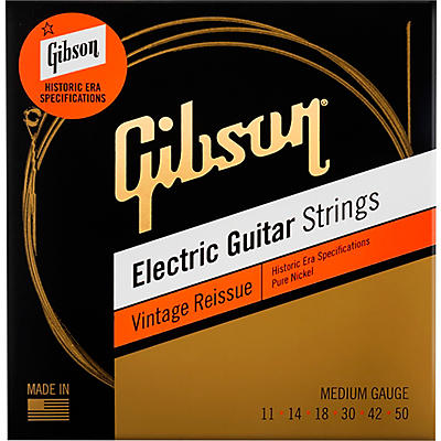 Gibson Vintage Reissue Electic Guitar Strings, Medium Gauge