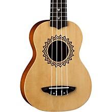 Open BoxLuna Guitars Vintage Spruce Soprano Ukulele