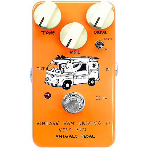 Animals Pedal Vintage Van Overdrive Effects Pedal Candle Orange