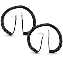 Fender Vintage Voltage 20 ft. Coil Straight-Angle Instrument Cable - Black 2-Pack