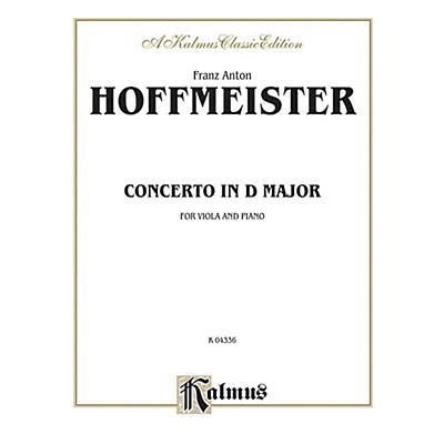 Alfred Viola Concerto in D Major for Viola Viola Concerto in D Major Book
