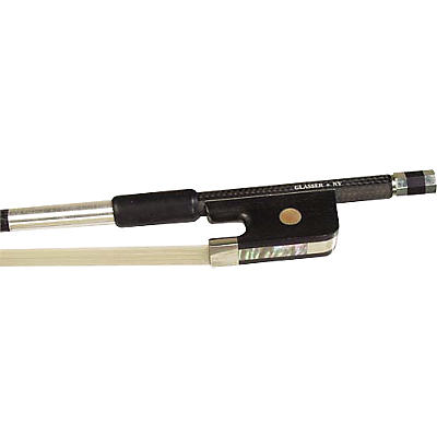 Glasser Violin Bow Braided Carbon Fiber, Fully Lined Ebony Frog, Nickel Silver Wire Grip & Tip