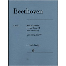G. Henle Verlag Violin Concerto In D Major Op. 61 Piano Reduction By Beethoven