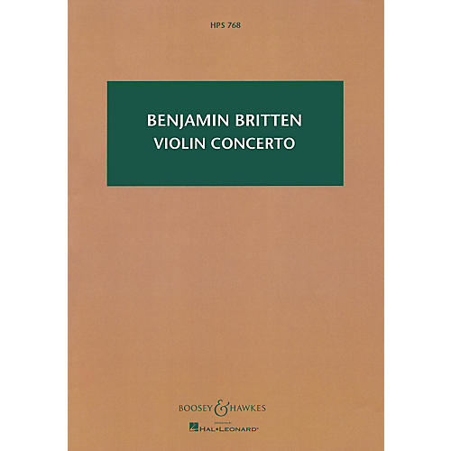 Boosey and Hawkes Violin Concerto, Op. 15 Boosey & Hawkes Scores/Books Series Composed by Benjamin Britten