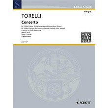 Schott Violin Concerto Op. 8, No. 2 (Score) Schott Series Composed by Giuseppe Torelli