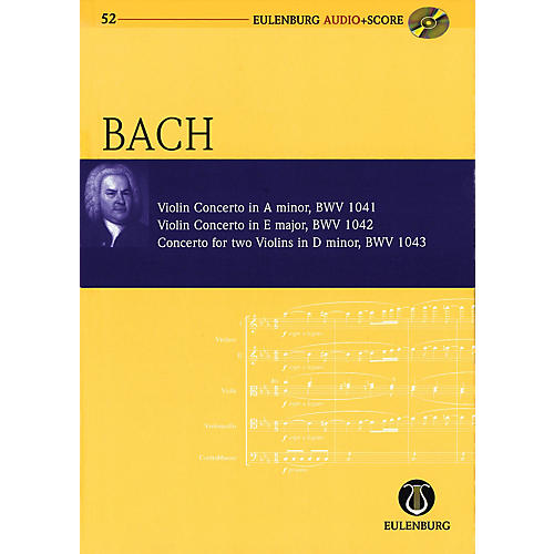 Eulenburg Violin Concerto in A minor and others Eulenberg Audio plus Score w/ CD by Bach Edited by Richard Clarke