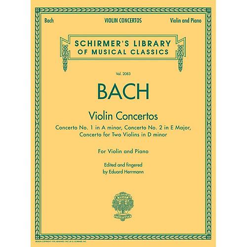 G. Schirmer Violin Concertos (A Minor, E Major, D Minor for Two Violins) Violin/Piano By Bach