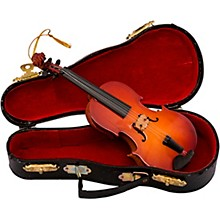 Kurt S. Adler Violin With Bow Wood Ornament