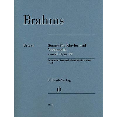 G. Henle Verlag Violoncello Sonata in E minor, Op. 38 (Cello and Piano) Henle Music Folios Series