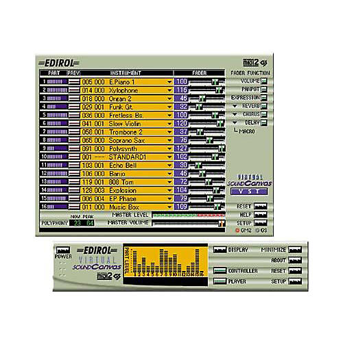 Edirol Virtual Sound Canvas Multi Pack VST/DXi