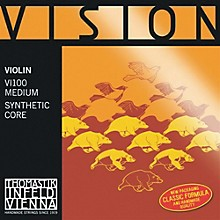 Vision 4/4 Violin Strings Medium E, Medium 3/4 Size