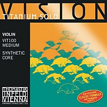 Vision Titanium Solo Violin Strings D, Titanium 4/4 Size