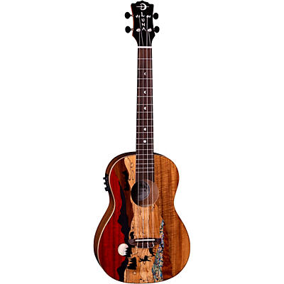 Luna Guitars Vista Deer Baritone Acoustic-Electric Ukulele