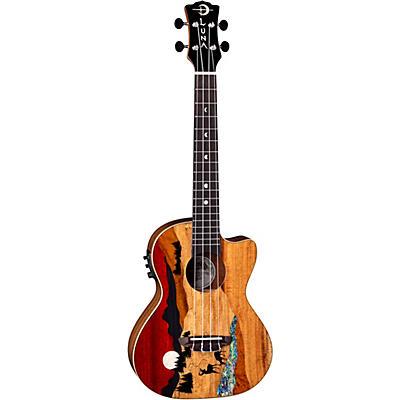 Luna Guitars Vista Deer Tenor Acoustic-Electric Ukulele