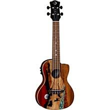Luna Guitars Vista Deer Tropical Wood Concert Acoustic-Electric Ukulele