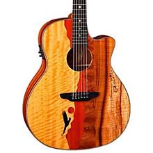 Open BoxLuna Guitars Vista Eagle Koa Back and Sides Acoustic-Electric Guitar