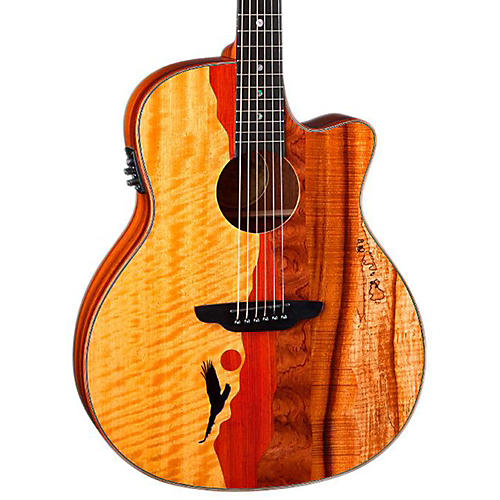 Luna Guitars Vista Eagle Koa Back and Sides Acoustic-Electric Guitar