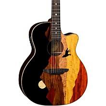 Open BoxLuna Guitars Vista Wolf Acoustic-Electric Guitar