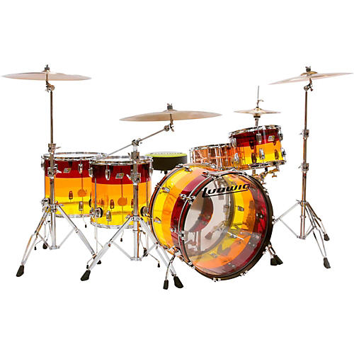 Ludwig Vistalite Tequila Sunrise 4-Piece Shell Pack
