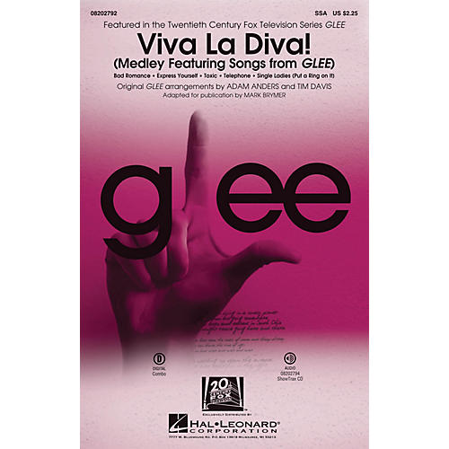 Hal Leonard Viva La Diva! (Medley Featuring Songs from Glee) SSA by Glee Cast arranged by Adam Anders