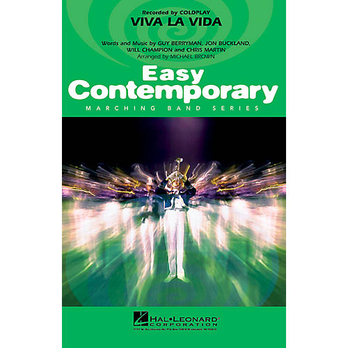 Hal Leonard Viva La Vida Marching Band Level 2-3 by Coldplay Arranged by Michael Brown