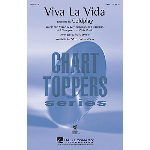 Hal Leonard Viva La Vida SSA by Coldplay Arranged by Mark Brymer