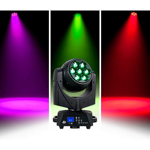 American DJ Vizi Hex Wash7 RGBAW+UV LED Moving Head Wash Beam with Zoom