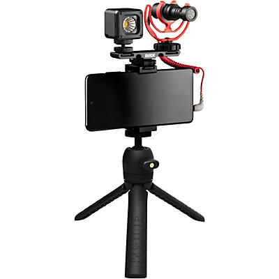 Rode Vlogger Kit for Mobile Phones with 3.5mm Compatibility - Includes Tripod, MicroLED light, VideoMicro and Accessories