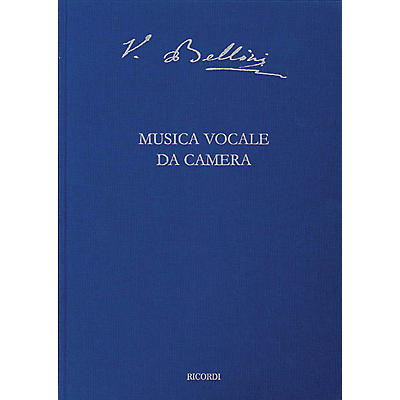 Ricordi Vocal Chamber Music Critical Ed Full Score Hardbound with critical commentary by Bellini Edited by Steffan