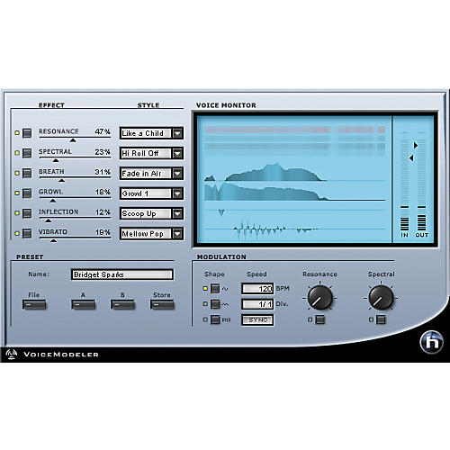 TC Helicon VoiceModeler Plug-in for PowerCore