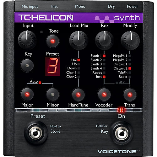 TC Helicon VoiceTone Synth HardTune & Vocoder Pedal