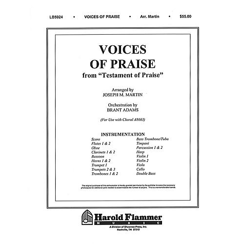 Shawnee Press Voices of Praise (from Testament of Praise) Score & Parts arranged by Joseph M. Martin