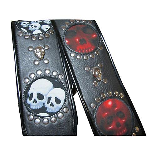 Jodi Head Voodoo Jessee Red Skull with Studs Guitar Strap