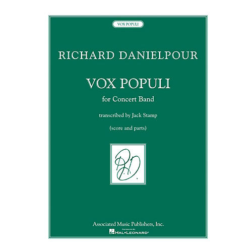 Associated Vox Populi (Voice of the People) Concert Band Level 5 by Richard Danielpour Arranged by Jack Stamp
