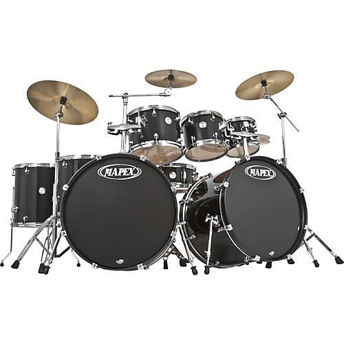 Mapex Voyager 8-Piece Double Bass Drum Shell Pack with Throne