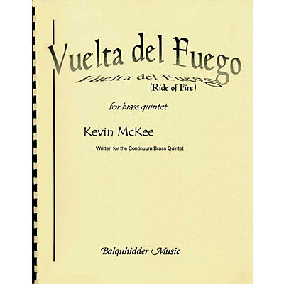 Carl Fischer Vuelta del Fuego (Ride of Fire) Book