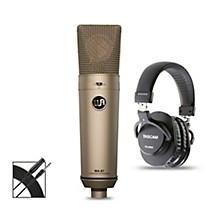 Warm Audio WA-87 Bundle with Tascam TH-200X Studio Headphones