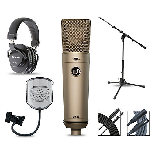 Warm Audio WA-87 Complete Package with Tascam TH-200X Studio Headphones