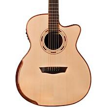 Open BoxWashburn WCG25SCE Comfort Series Grand Auditorium Cutaway Acoustic-Electric Guitar