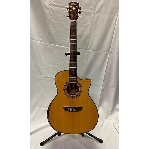 Washburn WCG80SCEG-L Acoustic Electric Guitar Natural