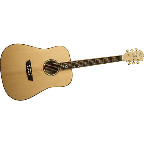 Washburn WD45S Solid Sitka Spruce Top Acoustic Dreadnought Flame Maple Guitar
